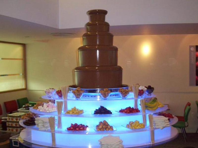 The Worlds Largest Chocolate Fountain Hire Service